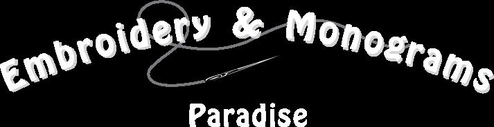 Paradise Embroidery Logo
